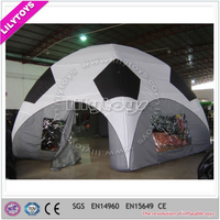 Free blower football inflatable tent with thick plato PVC for selling