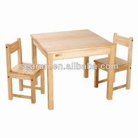 Nature environmental wood table and chairs
