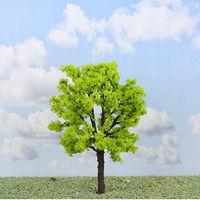 N HO light green miniature model scale trees for sale, 3pcs