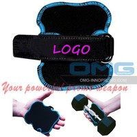 LOGO Printing Neoprene Weight Lifting Gloves Hand Grips Pad Gym Gloves Fitness Workout Gripper Grabber Crossfit