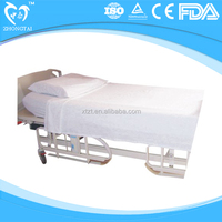 disposable nonwoven bed cover sheet for medical and surgical use mainly in hospitals