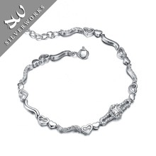 Fashion Pave Setting Zircon Stones Silver Ebay Bracelets For Lady