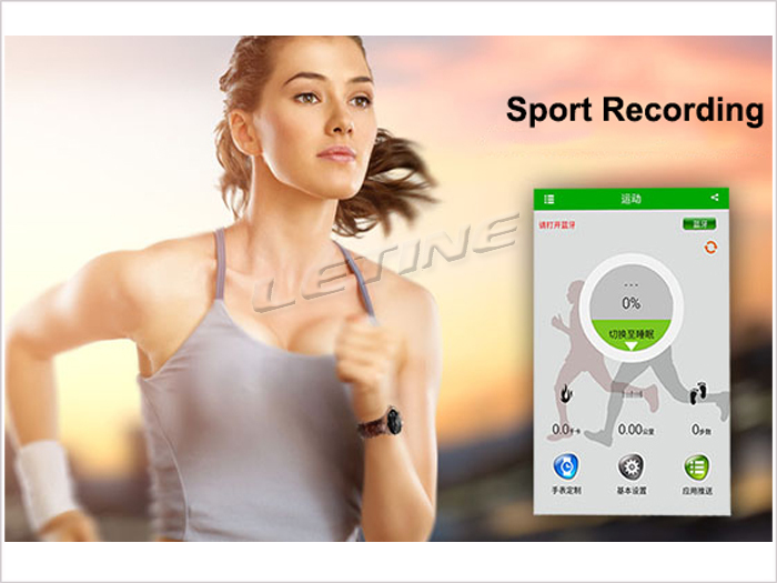 Letine wristwatches heart rate monitor MTK2501 Compatible With IOS And Android phone BT 4.0 Bluetooth round smart watch