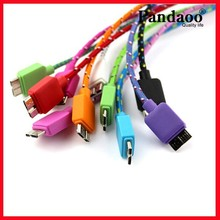 Popular Cable Super Speed USB3.0 Data Sync Cables Nylon Cable