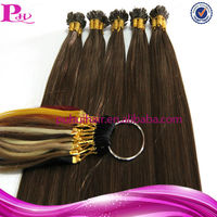 high quality pre-bonded hair extension,I tip/U tip/Flat tip hair extension,1g/strand,brown colour