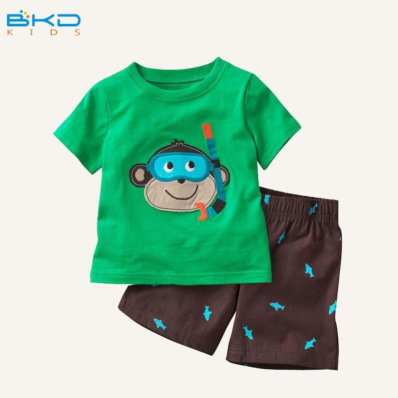 BKD O-cou broderie vêtements ensemble