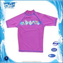 Kids pure colored swimwear rash guard surf suit