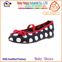 Fashion dots safety cotton branded girls belly shoes