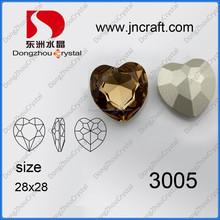 Heart Glossy Crystal Rhinestone Jewelry Beads/ Lampwork