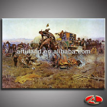 Western cowboy hunting oil painting