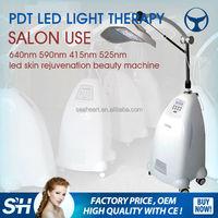 Wholesale - led light pdt photodynamic therapy system acne wrinkle removal whitening skin rejuvenation machine 7 color