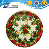 Round plastic serving tray of christmasday