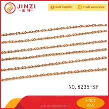 Wholesale new thin gold metal chains design for handbags