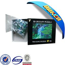2015 new design lenticular plastic 3D jigsaw puzzle games