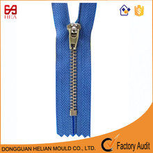 4yg zipper Shinny nickel metal zipper slider and puller zipper for pants use YKK color card