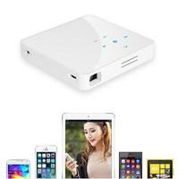 White color Smart home theater mini projector