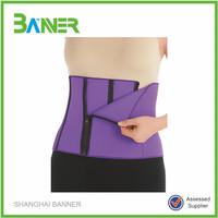4 Zippers Wrap slimming Belt Belly Fitness Body Wrap Shaper Sauna Belt for Men Women