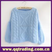 2015 Good wool yarn warm winter knitting crochet cheap sweater
