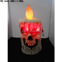 All new design holiday gift custom madeAnimated Dancing Skull Faced Candle Halloween New Sings Sound Activated LED