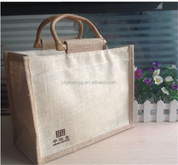 promotional gift china cheap recycled foldable jute shopping bag