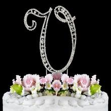 fashion hot sale crystal rhinestone cake topper wedding decoration
