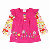 2-6Y (G632#FUCHSIA)New spring cotton tops for baby girl t shirts for kids