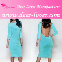 Ice Blue Sequin Low Back sixe girl india Midi Dress