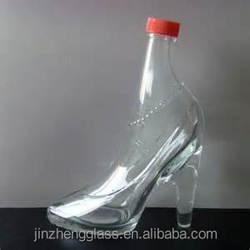 clear beautiful Bulk cheap odd shaped glass bottle distributor