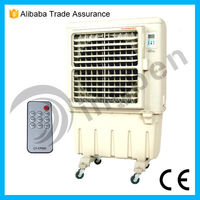 Commercial powerful evaporative desert air cooler with wheels