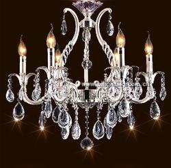 Luxury chandelier modern silver crystal lighting
