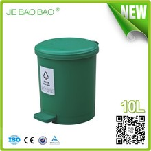 High Quality round Pedal Operated hotel waste containers homes 10L For Ladies Toilet