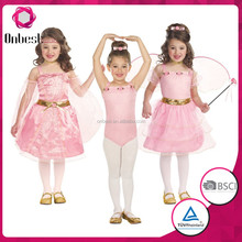 Sexy pink fairy wings costume baby girl princess dresses tight butterfly wand princess dresses for kids