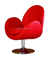 PU leather swan chair , swivel chair with metal chaise (NH279)