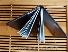 leather agenda cover ,genuine leather checkbook cover