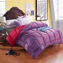 chinese imports wholesale comforter set cotton queen blue quilt with streak