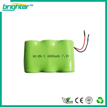 SGS CE ISO complied manufacturer c size nimh 7.2v 4000mah