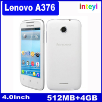 "Original Lenovo A376 Dual Core Smart Phone 4""IPS 3.2MP Camera with Flashlight Android4.0 512MB RAM 4GB ROM Dual Sim Mobile Phone"