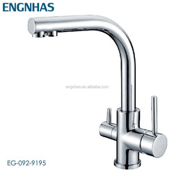 2 handles 3 Way kitchen Sink Faucet with RO Water Channel