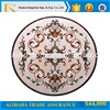 "48"" best price round shape complicated pattern crema marfil marble waterjet for villa&hotel"