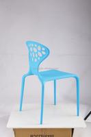 2015 New Design Plastic Blue Backrest Chair Dollhouse Miniature