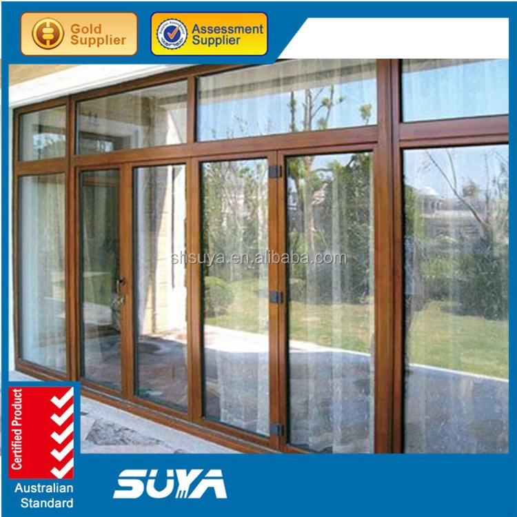 Aluminum wood composite hinges solid wood french window for Solid wood patio doors