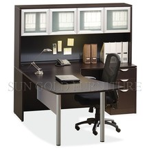 Dark coffee high quality manager with filing cabinet executive office desk (SZ-OD355)