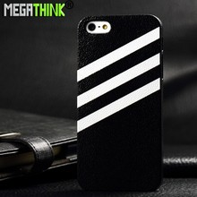 Matte Custom Printing Leather Skin Hard Back Case For iPhone 4s 5 5s 6 Plus fashion famous sport brand Pattern