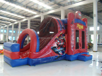 Outdoor Commercial Inflatable Spiderman Castle with Slide
