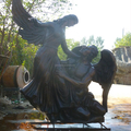 Exterior escultura de bronce figura Dancing