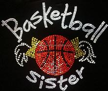 Basketball mom rhinestone transfer hotfix motif custom design
