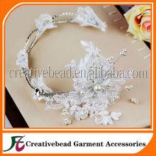 2014 China atacado produtos de alta qualidade a venda quente laço nupcial flor de tecido para vestido de noiva decoração