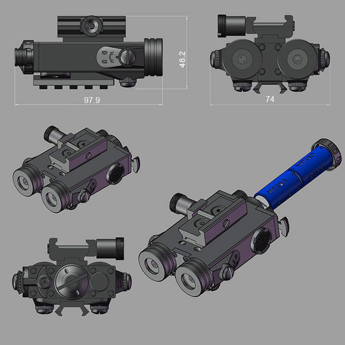 ar 15 Laser Sight Sight Combo For ar 15