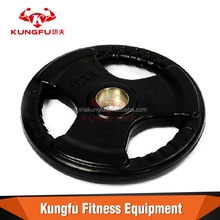 rubber coated weight training plates tri grip