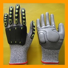 Protective TPR Impact Resistant Anti Cut Gloves
